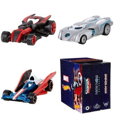 SDCC 2015 EXCLUSIVE MATTEL HOT WHEELS MARVEL SECRET WARS CHARACTER CAR 3-PACK (Wars Mattel Secret)