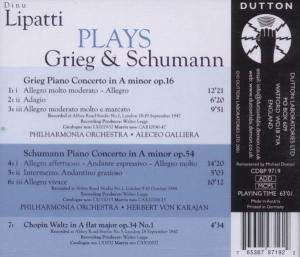Dino Lipatti Plays Grieg & Schumann