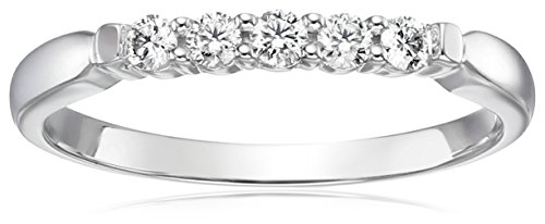 IGI Certified 14k White Gold Diamond 5 Stone Anniversary Ring (1/4cttw, H-I Color, SI2-I1 Clarity), Size 8