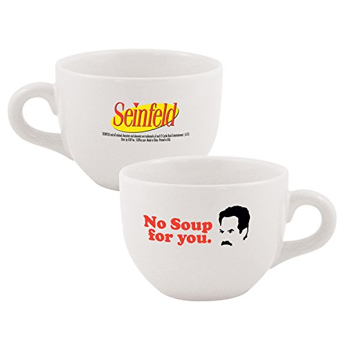 Seinfeld No Soup For You Ceramic Soup Mug, White 24 oz