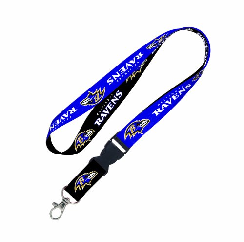 (NFL Baltimore Ravens Lanyard with Detachable Buckle)