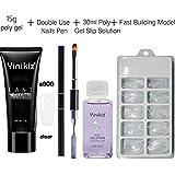 RONSHIN Gifts for 4Pcs/set Nails Kit Sets for Nail Tips Poly Gel Extension UV LED Polygel S900 4 piece set (transparent)