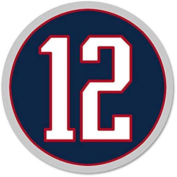 Amazon.com: MAGNET 4x4 inch ROUND #12 Tom Brady Sticker - new ...