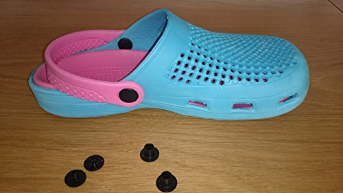 Rivet Strap - 16mm Genuine Crocs Rivets Shoes Repair and Replacement Button for Crocs Rivet - Set of 4 ( 2male and 2 female)