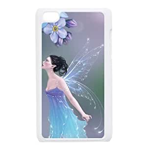 iPod Touch 4 Case White Forget Me Not Lxzup
