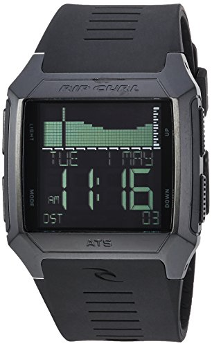 affordable Rip Curl Men's Rifles Stainless Steel Quartz Sport Watch with Polyurethane Strap, Black, 27 (Model: A1136-MID)