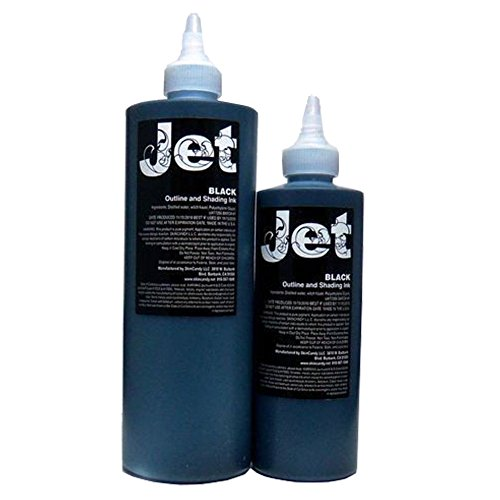 Jet Black Shading Ink - 8oz. Bottle - Skincandy Tattoo Ink