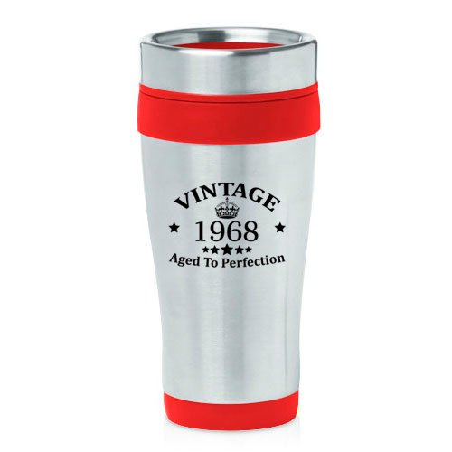 16 oz Insulated Stainless Steel Travel Mug Vintage Aged To P