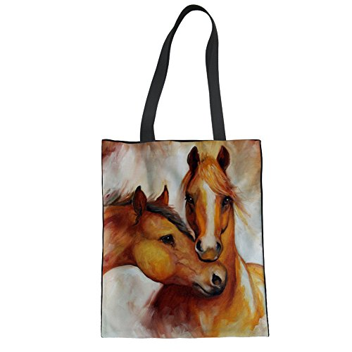 Advocator 3D Print Tragetaschen Canvas Handtasche Lässig Strandtasche Durable Wiederverwendbare Tote Shopper Tasche für Frauen Color-9 GjyBmKV