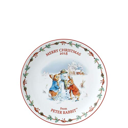 Wedgwood Peter Rabbit Christmas Plate 2018 Gift Boxed 8 inches / 20cm Diameter