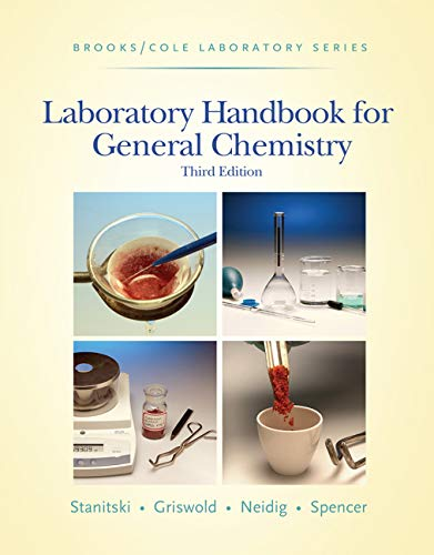 Laboratory Handbook for General Chemistry (with Student Resource Center Printed Access Card) (Brooks / Cole Laboratory Series) from Brooks / Cole