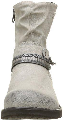Tom Tailor 1695602 - Botas de motorista de media pantorrilla Mujer Blanc (Offwhite)