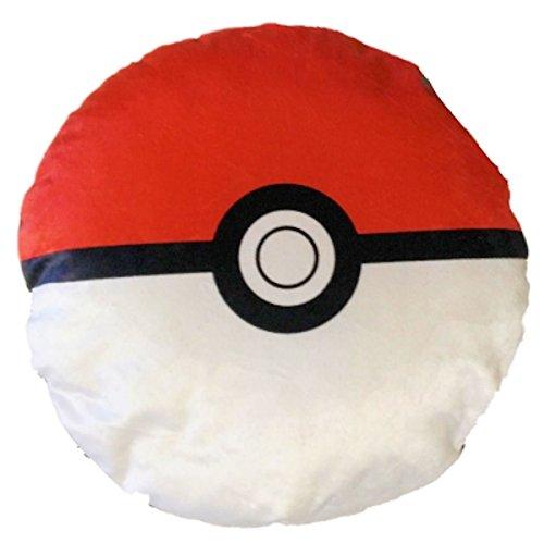 (Pokemon Pokeball Classic Red and White 13 inch Plush Round Pillow)