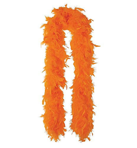 SACASUSA (TM) 100g Turkey Feather BOA Brand New in POLY BAGS ! Turkey Feather Chandelle Boa 6 feet long (Orange) -