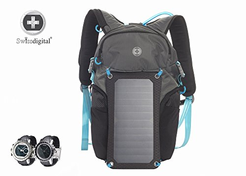 Shot Laptop Backpack - SwissDigital Solar Shot Backpack - Hiking, Camping, Survival, Theme Parks, Adventure