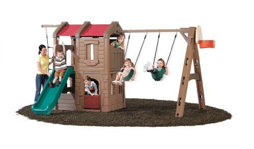 Step2 Naturally Playful Adventure Lodge Swing Set and Play Center ()