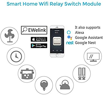 WHDTS WiFi Relay Delay Switch Module Self-Lock Latching Mode Low Power  Smart Home Remote Control DC 12V Compatible with iOS Andriod APP 2G/3G/4G