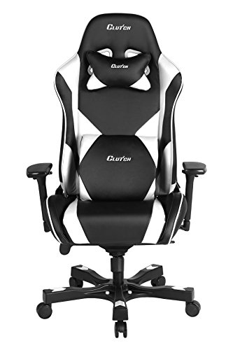 Clutch Chairz Throttle Series Echo Premium Gaming Chair (White)