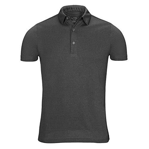 EAGEGOF Regular Fit Men's Performance Polo Shirt Stretch Tech Golf Shirt Short Sleeve Dark Gray Heather