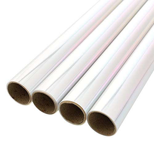 Juvale 4-Pack Clear Cellophane Wrapping Roll for Gift Baskets and Crafts, 17 Inches x 10 Feet Each