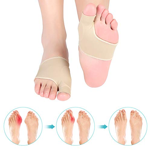 Bunion Corrector Bunion Relief, Bunion Sleeves Big Toe Protector with Gel Pad for Hallux Valgus, Bunion Surgery Pain Relief, Fits Both Men and Women
