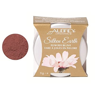 Aubrey Organics, Silken Earth, Powder Blush, Warmed Raisin, 3 g