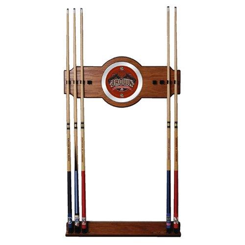 NCAA Brown University Billiard Cue Rack with Mirror by Trademark Gameroom