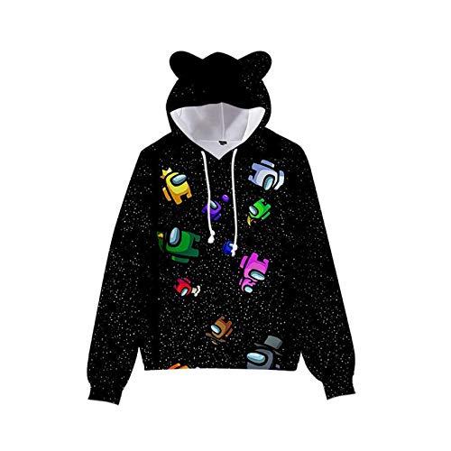 Among Us Hoodie voor kinderen, Among Us trui voor jongens en meisjes, 90-170 cm, Among Us Cosplay kostuum, streetwear…