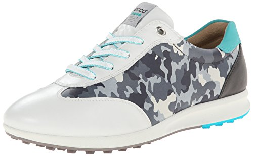 ECCO Women's Street EVO One Camo Golf Shoe,White/Turquoise,40 EU/9-9.5 M US by ECCO