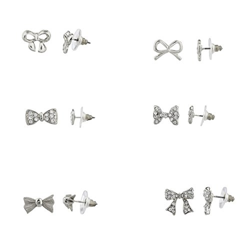Lux Accessories Crystal Multiple Earrings product image