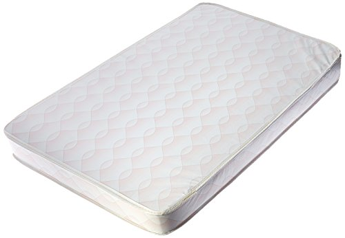 Dream On Me Travel Lite Protable Min Play Yard Foam Mattress with Round Corner, Wave Pink, 3