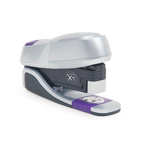 Rapesco X5-20h - Grapadora de esfuerzo reducido, 20 hojas de capacidad, usa grapas 26 y 24/6 mm, gris/purpura