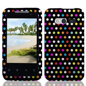 Boundle Accessory for At&t Huawei Activa 4g M920 - Rainbow Dots Designer Hard Case Protector Case + Lf Stylus Pen for At&t Huawei Activa 4g M920 ()