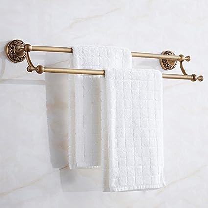 FACAIG Polo Doble baño Toallero estantería Doble Cubierta Colgador de Toallas de Ducha Toallas baño baño ...