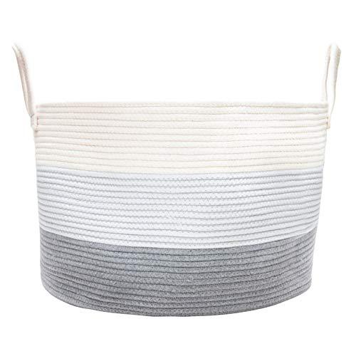 df8fb507a510 OrganiHaus XXL Extra Large Cotton Rope Storage Basket 20''x13.5 ...