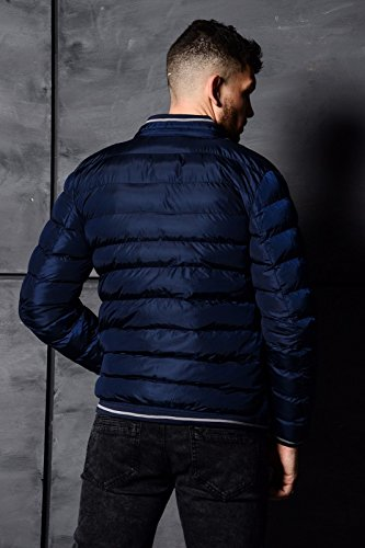 Warm Jacket Designer Navy Eto Winter Puffer Mens Quilted Coat Bomber Jeans Padded HxnSqO6