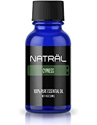 NATRÄL Cypress, 100% Pure and Natural Essential Oil, Large 1 Ounce Bottle