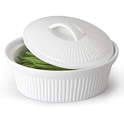 BergHOFF Hotel Line Bianco Oval Covered Casserole, White, 10'' x 12.25''