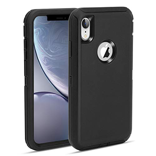 MAXCURY foriPhone XR Case, Heavy Duty Shock Absorption Full Body Protective Case Hard PC Bumper + Soft TPU Back Cover…