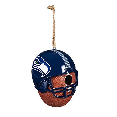 House Seattle Seahawks - Team Sports America Seattle Seahawks Team Logo and Ball Hanging Birdhouse