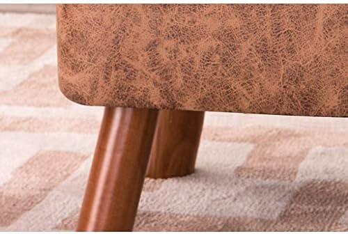 YUMUO Tabouret Table Basse Banc en Bois Massif Chaussures Chaussures Banc Mode Creative Carré Tissu Canapé Lavage À La Maison Et Lavage Conception (Couleur: Marron)