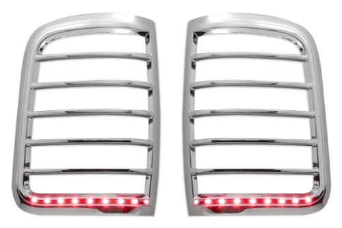Razer Auto Chrome LED Tail Light Bezel Trim Cover for 2004-2008 Ford F150 Styleside ()