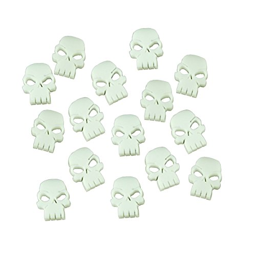 Mini Skull Tokens, White (15) - Skull Tokens