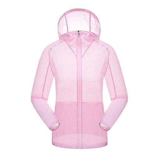 Shuang Yu Zuo Deportes Respirable A Prueba De Viento Casual Anti-ultravioleta Sunscreen,Pink-woman-L