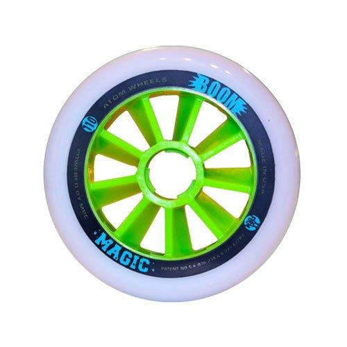 Atom Skates Boom Magic 110mm Inline Skate Wheels - 8 Pack - 110mm/XXFirm by Atom Skates