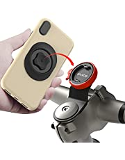 Mountain Bike Phone Holder with Quick Mount,Universal Aluminum Alloy GPS Bracket Ultra-Lock System Riding Clip Stand,MTB Road Bicycle Cell Phone Handlebar Stem Mount for iPhone Samsung Google(Orange)