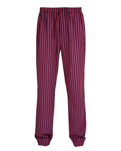 Armani International Pajama Pants Sateen Cotton X-Large Burgundy Blue]()
