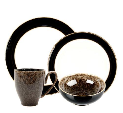 Denby Praline Noir 4-Piece Place Setting, Brown