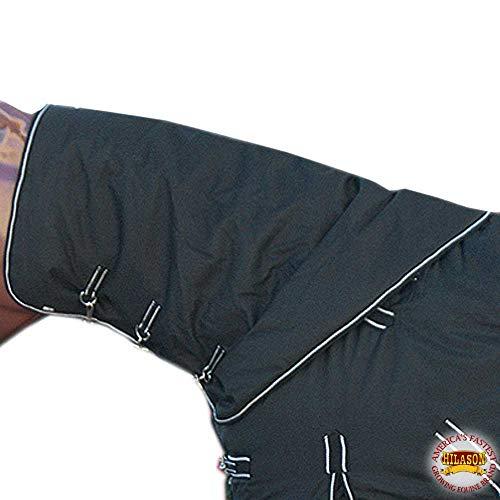 HILASON Medium Winter Waterproof Poly Turnout Horse Hood Neck Cover White Black