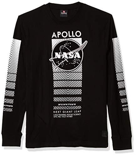Southpole Men's NASA Collection Fashion Tee Shirt Long Sleeve